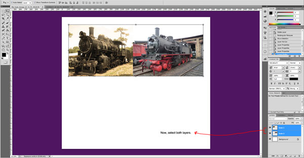 train photo layers 2 cropped Sweet Farewell Presentation Illustration Tutorial
