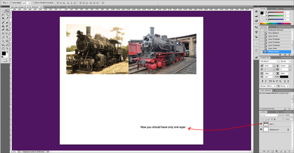train photo layers 4 cropped Sweet Farewell Presentation Illustration Tutorial