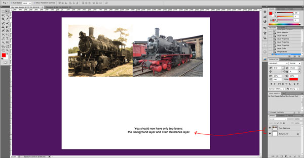 train photo layers 6 cropped Sweet Farewell Presentation Illustration Tutorial