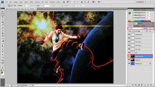 modes Learn to Create A Fire Light Effect in Photoshop