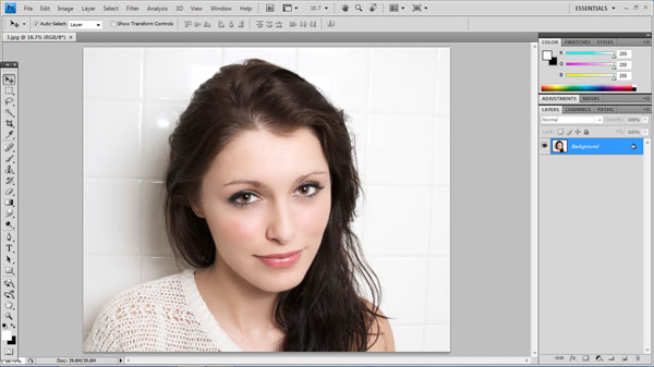step1 open photo How To Create Ravishing Interweaving Photo Strips Effect in Photoshop