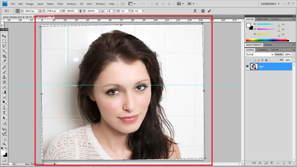 step2 rotate How To Create Ravishing Interweaving Photo Strips Effect in Photoshop