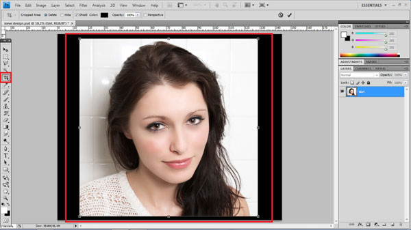 step3 crop How To Create Ravishing Interweaving Photo Strips Effect in Photoshop