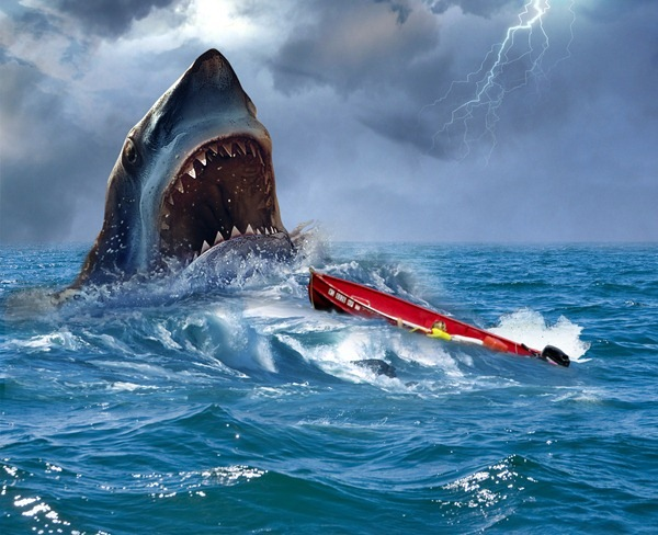 add boat How to Create Realistic JAWS Movie Poster in Photoshop