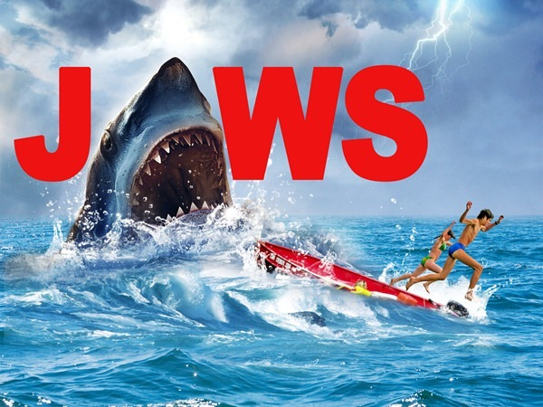add text How to Create Realistic JAWS Movie Poster in Photoshop