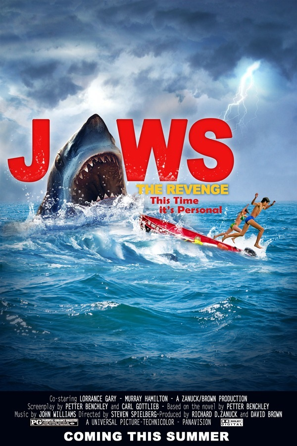 jaws final How to Create Realistic JAWS Movie Poster in Photoshop