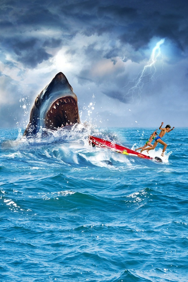 more splash How to Create Realistic JAWS Movie Poster in Photoshop